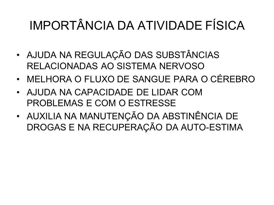 IMPORTÂNCIA DA ATIVIDADE FÍSICA