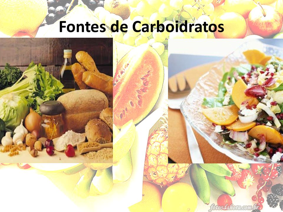 Fontes de Carboidratos