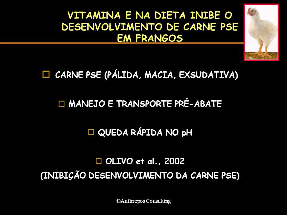 VITAMINA E NA DIETA INIBE O DESENVOLVIMENTO DE CARNE PSE EM FRANGOS