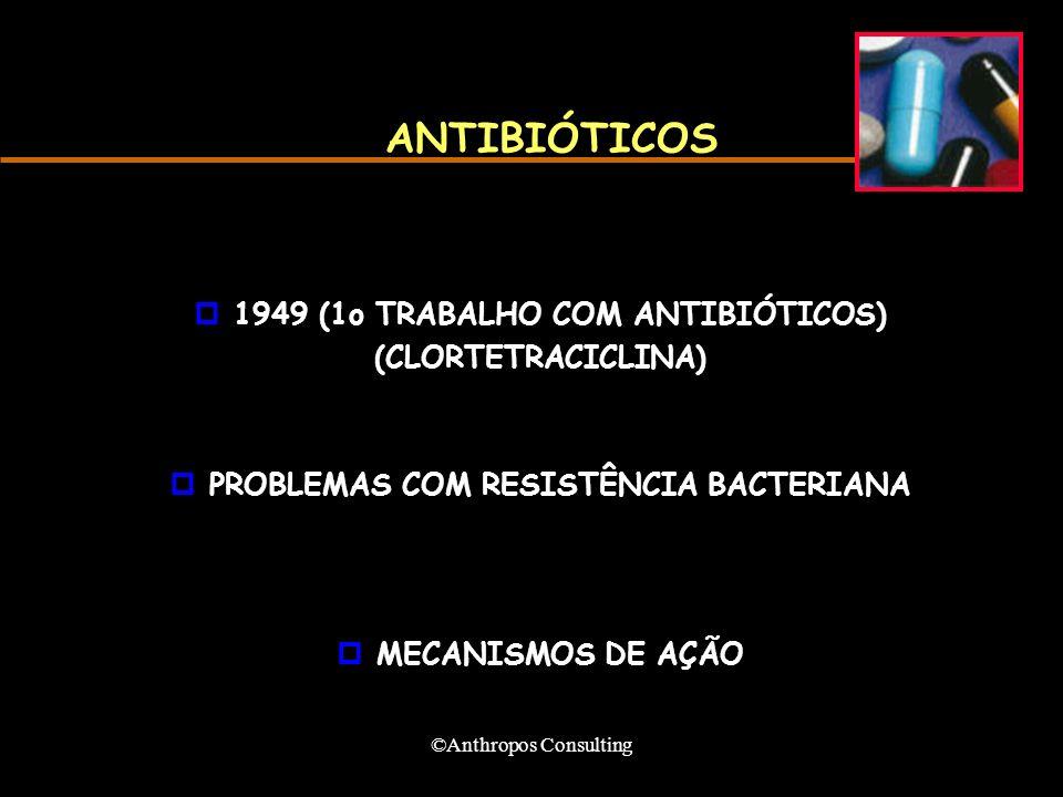 ANTIBIÓTICOS 1949 (1o TRABALHO COM ANTIBIÓTICOS) (CLORTETRACICLINA)