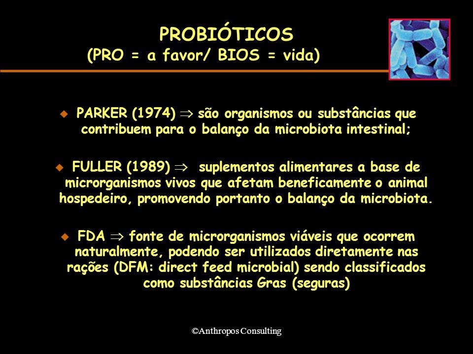 PROBIÓTICOS (PRO = a favor/ BIOS = vida)