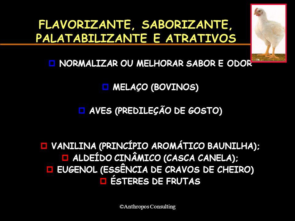 FLAVORIZANTE, SABORIZANTE, PALATABILIZANTE E ATRATIVOS