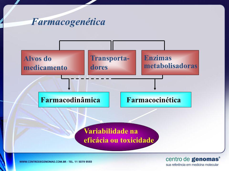 Farmacogenética Alvos do medicamento Transporta-dores
