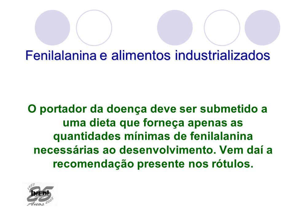 Fenilalanina e alimentos industrializados