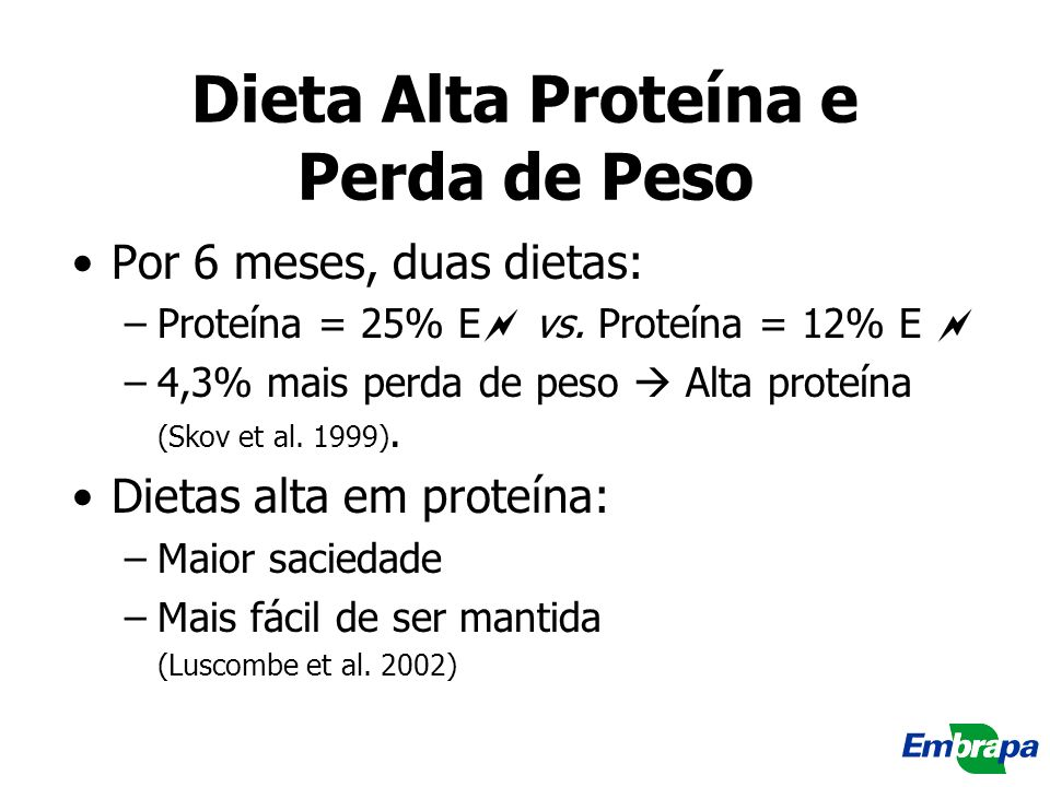 Dieta Alta Proteína e Perda de Peso