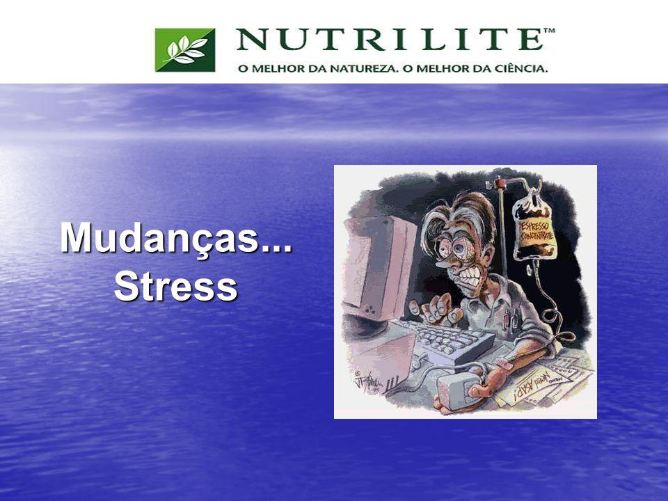 Mudanças... Stress Outra mudança importante na sociedade atual é o aumento do stress