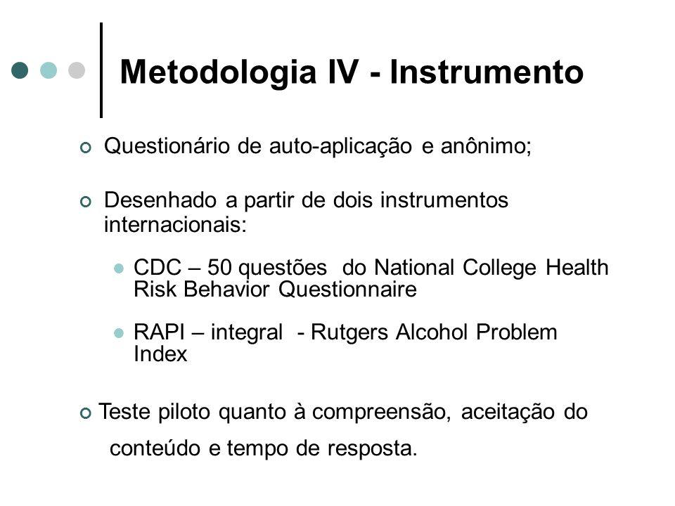 Metodologia IV - Instrumento