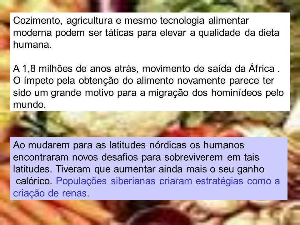 Cozimento, agricultura e mesmo tecnologia alimentar
