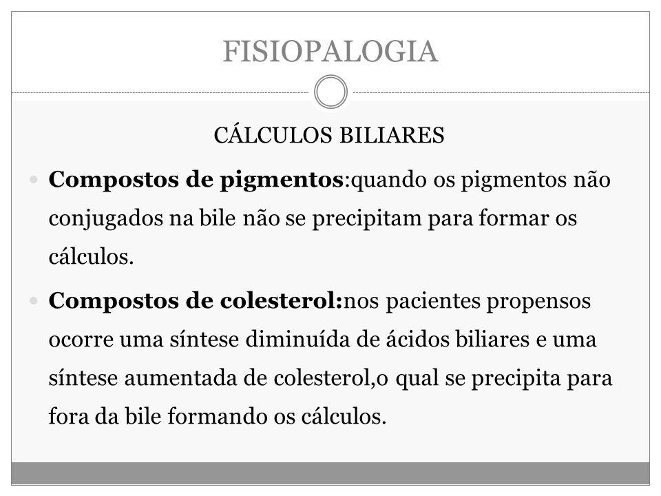 FISIOPALOGIA CÁLCULOS BILIARES