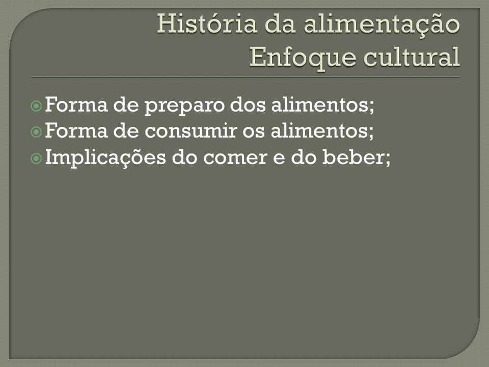 História da alimentação Enfoque cultural