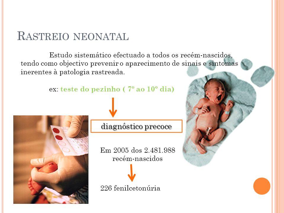 Rastreio neonatal diagnóstico precoce