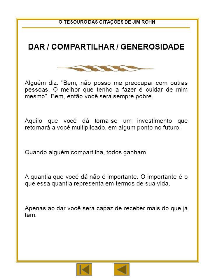 DAR / COMPARTILHAR / GENEROSIDADE