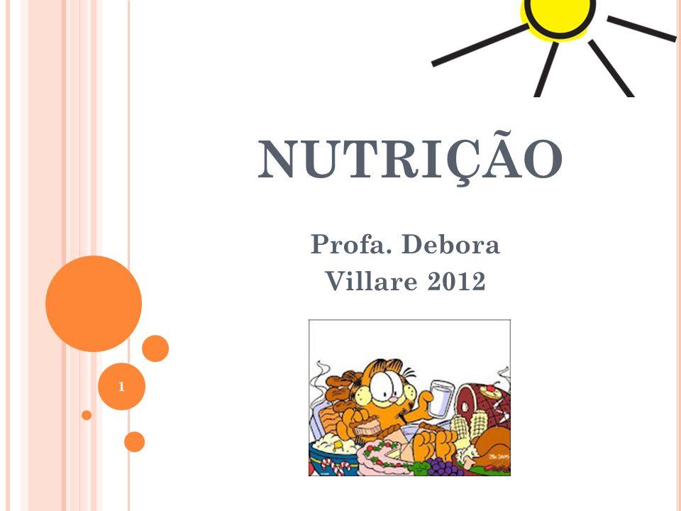 NUTRIÇÃO Profa. Debora Villare 2012