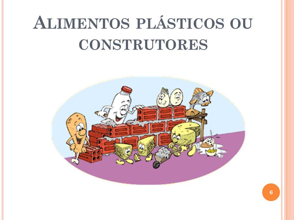 Alimentos plásticos ou construtores