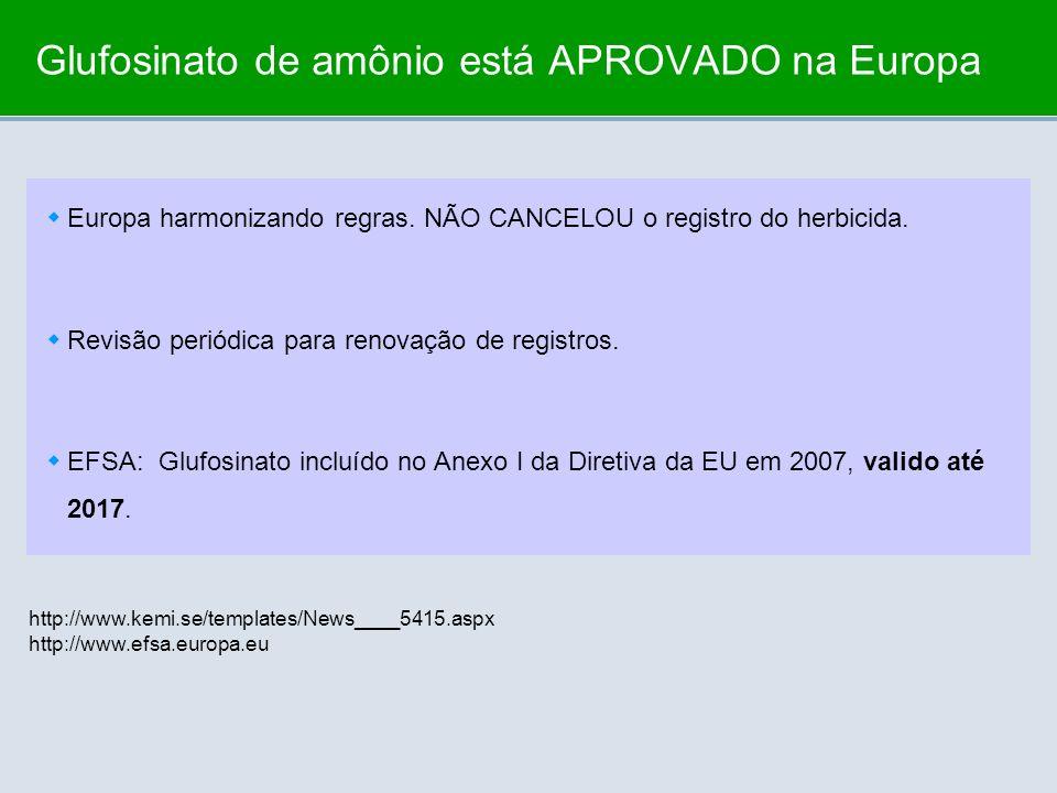 Glufosinato de amônio está APROVADO na Europa