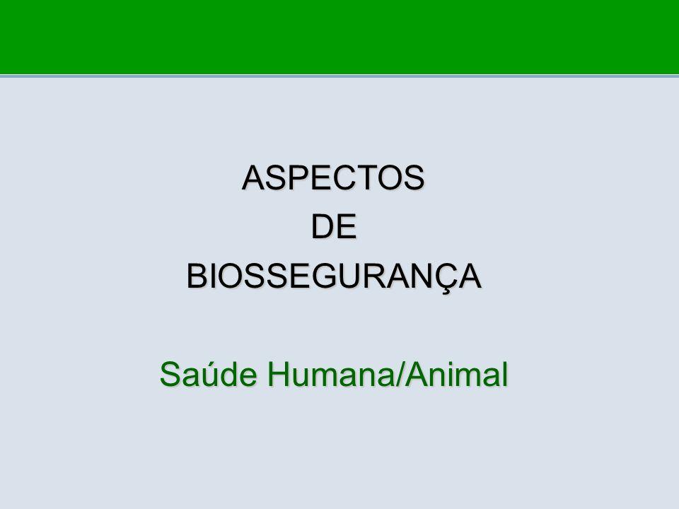 ASPECTOS DE BIOSSEGURANÇA Saúde Humana/Animal
