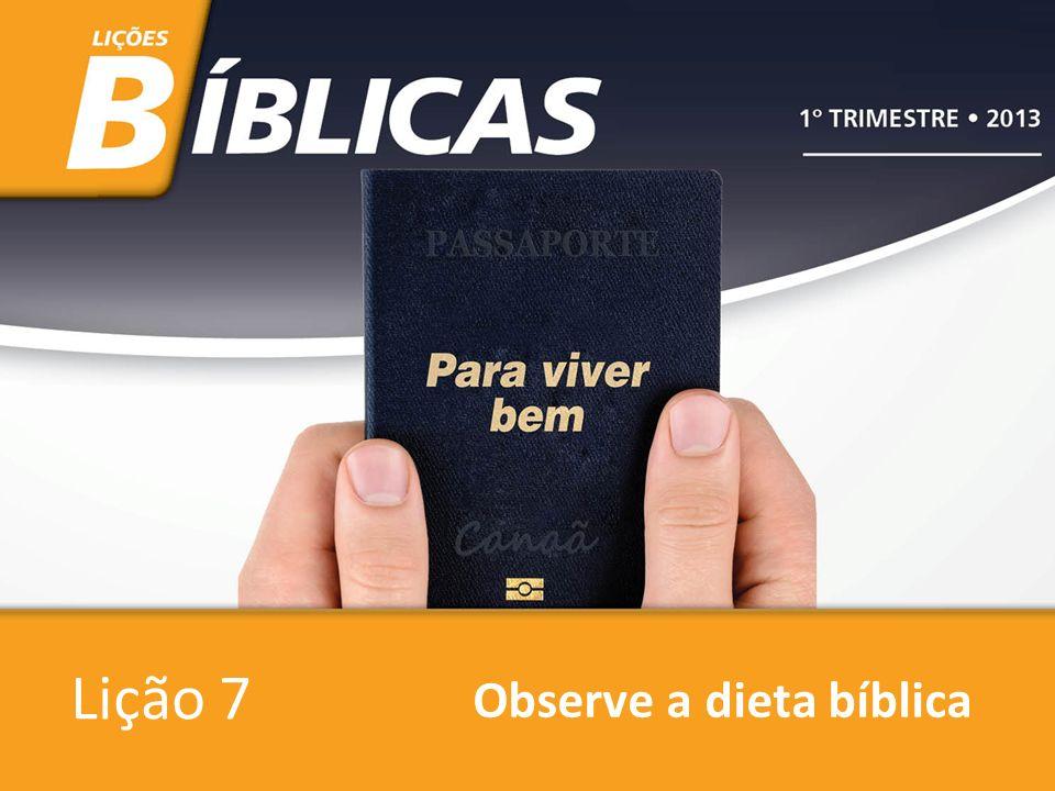 Observe a dieta bíblica