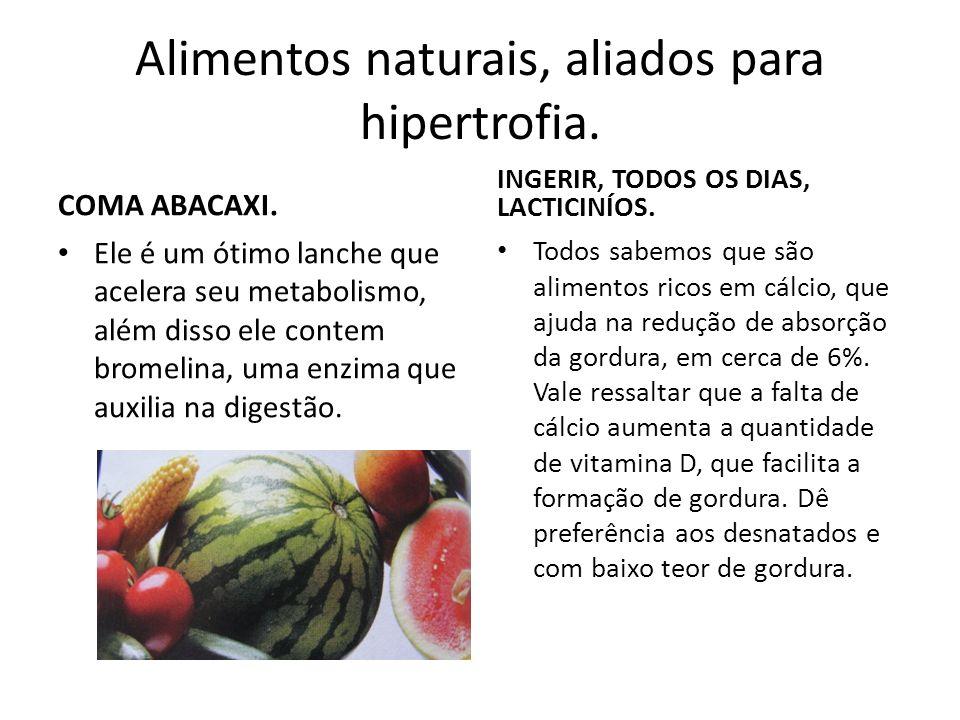 Alimentos naturais, aliados para hipertrofia.