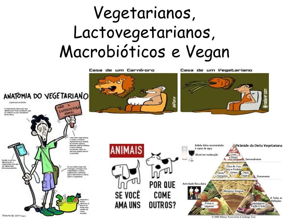Vegetarianos, Lactovegetarianos, Macrobióticos e Vegan
