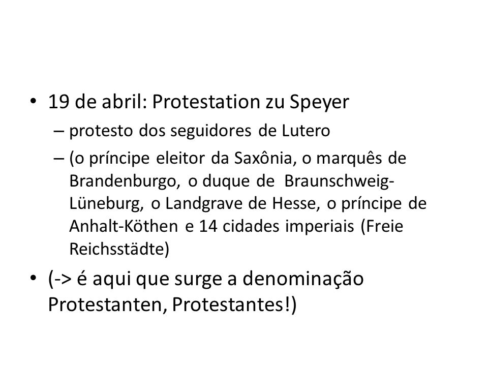 19 de abril: Protestation zu Speyer
