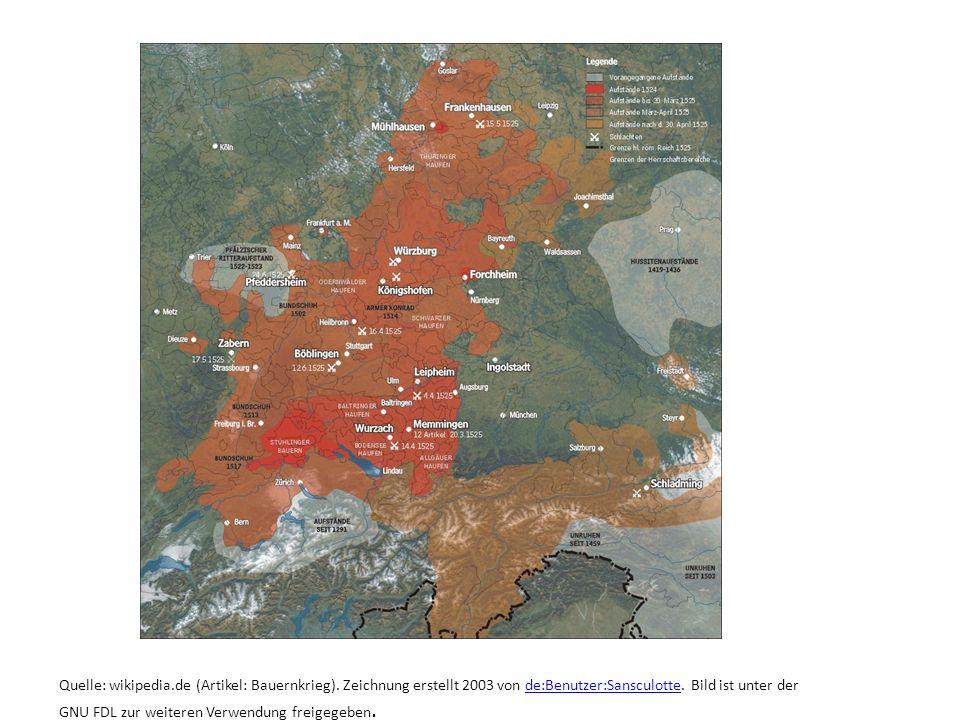 Quelle: wikipedia. de (Artikel: Bauernkrieg)