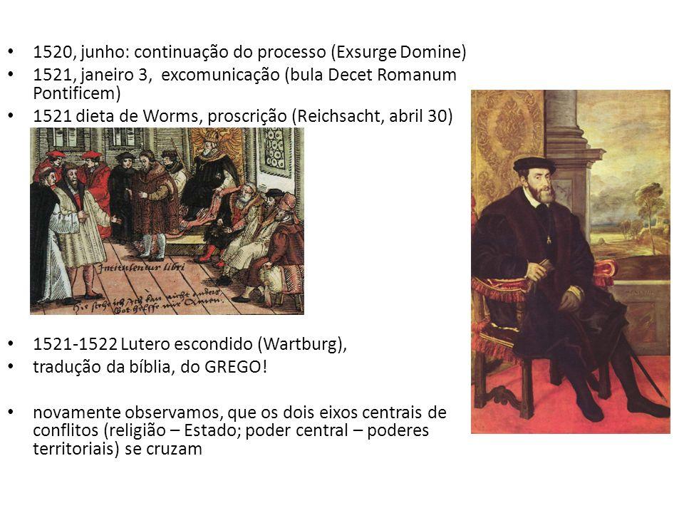 1520, junho: continuação do processo (Exsurge Domine)