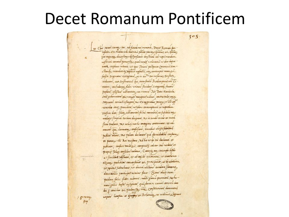 Decet Romanum Pontificem