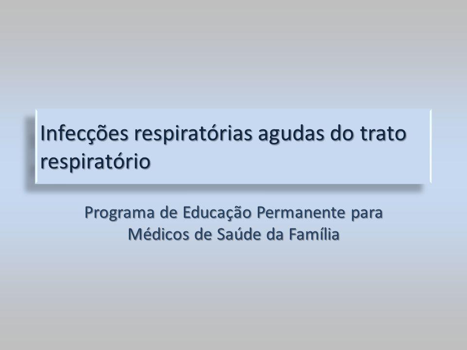 Infecções respiratórias agudas do trato respiratório