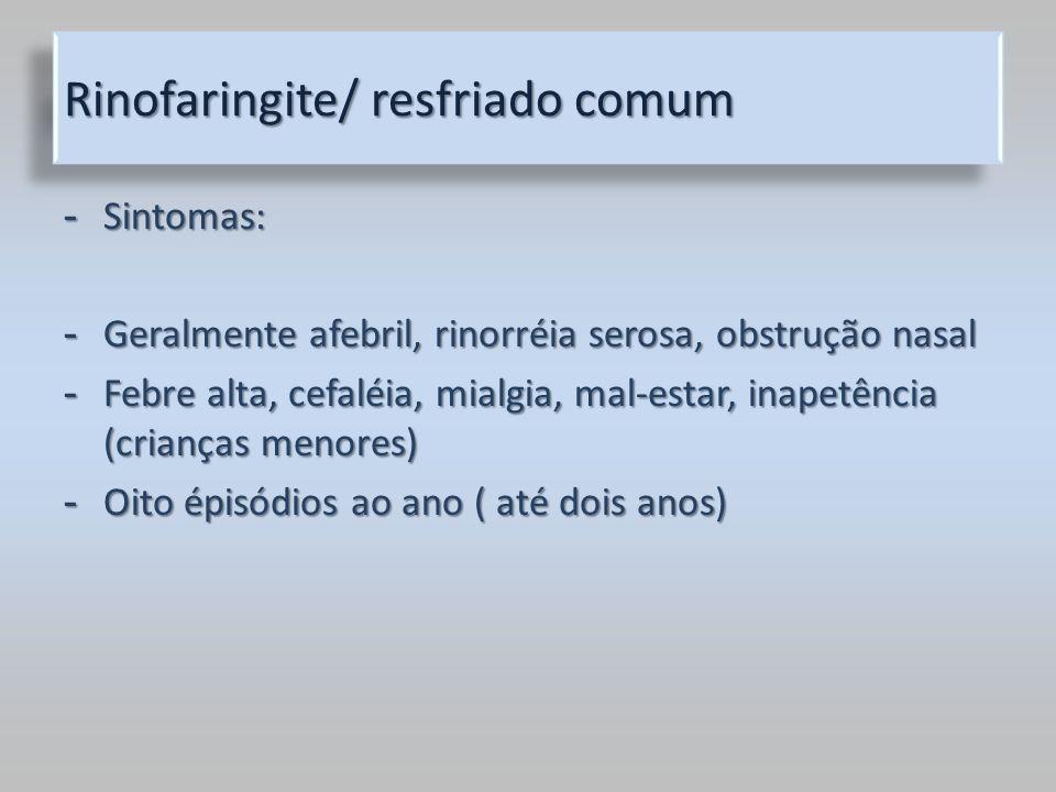 Rinofaringite/ resfriado comum