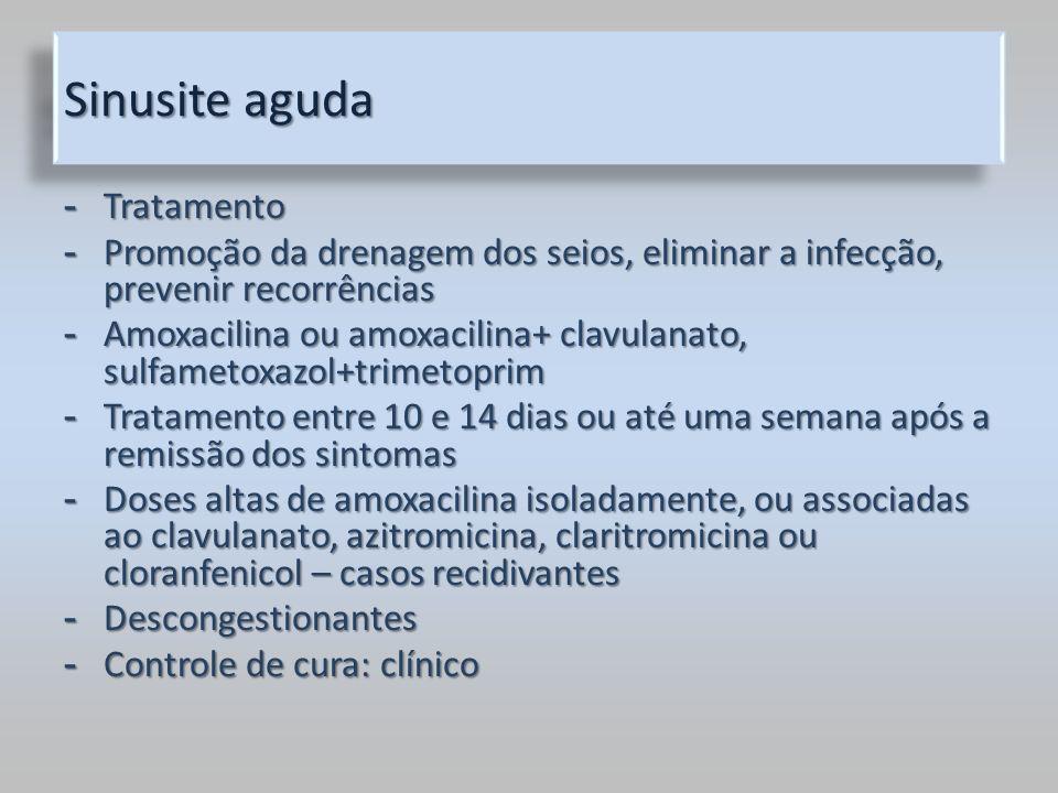 Sinusite aguda Tratamento