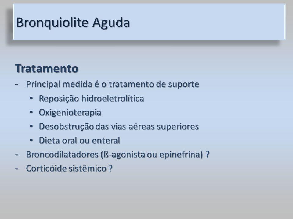Bronquiolite Aguda Tratamento