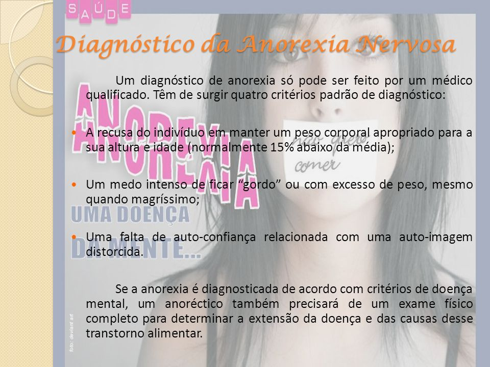 Diagnóstico da Anorexia Nervosa