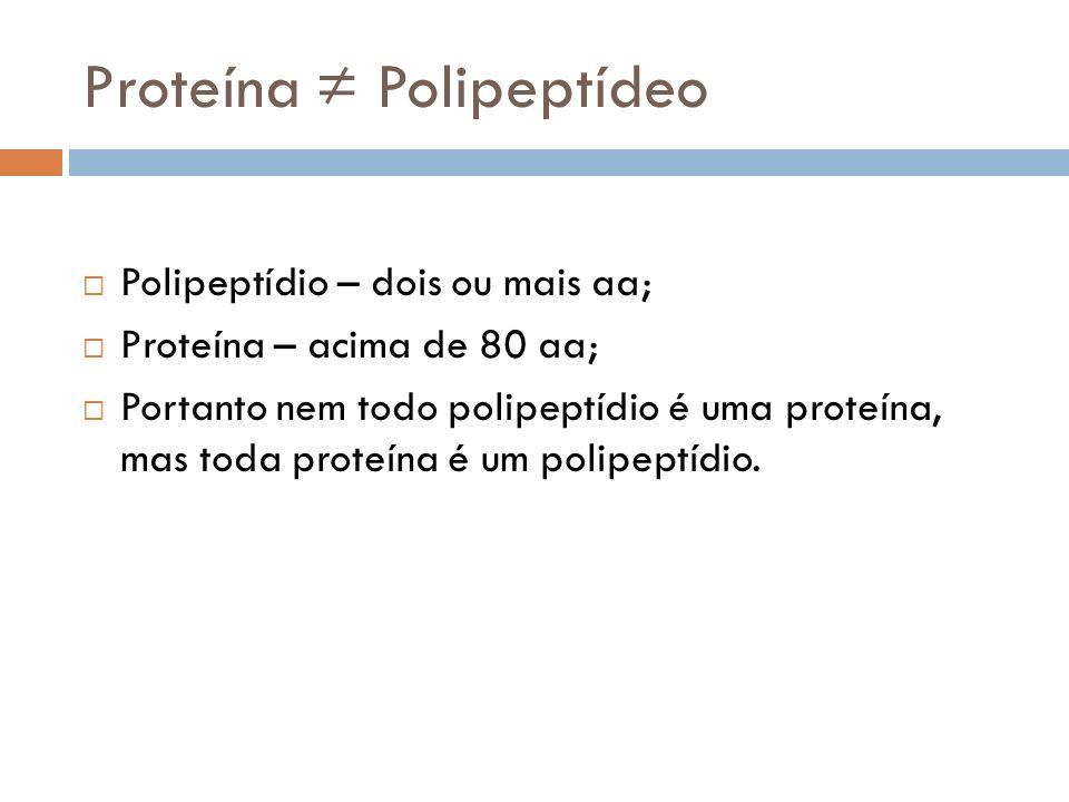 Proteína ≠ Polipeptídeo