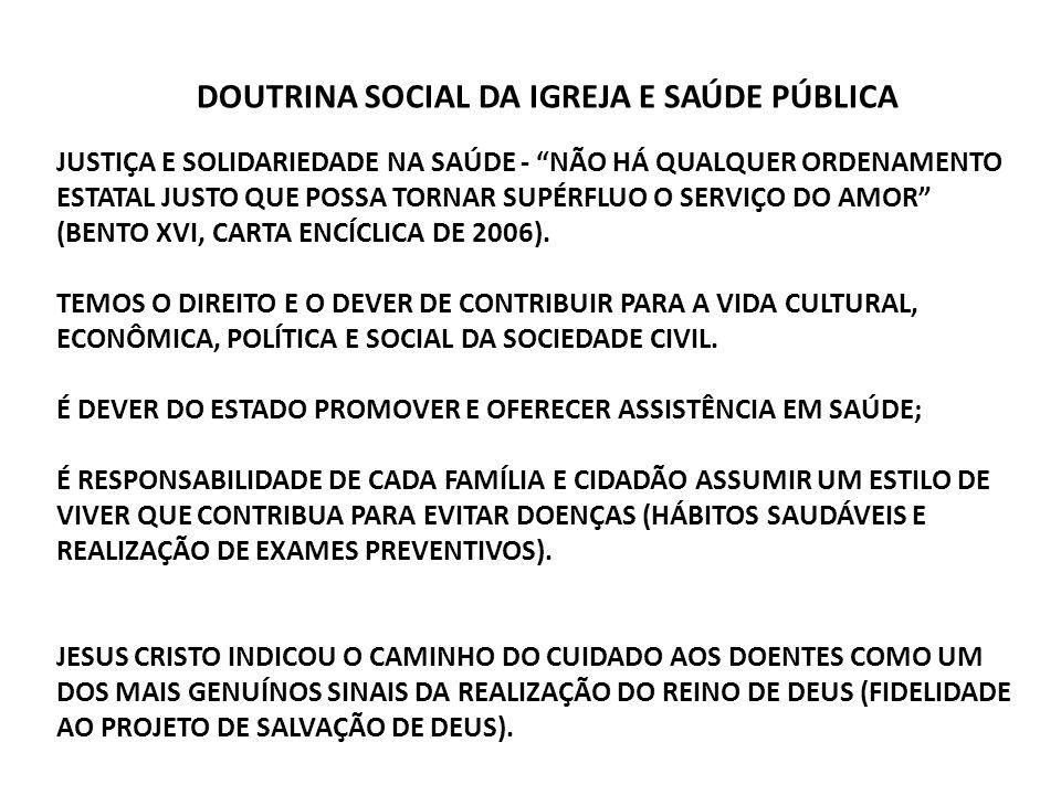 DOUTRINA SOCIAL DA IGREJA E SAÚDE PÚBLICA