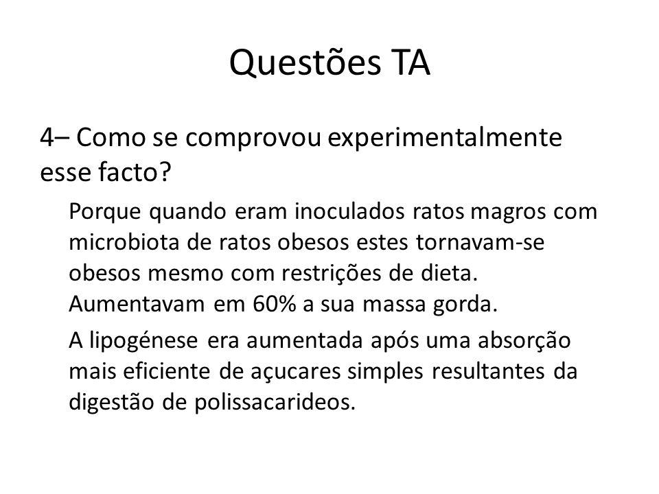 Questões TA 4– Como se comprovou experimentalmente esse facto