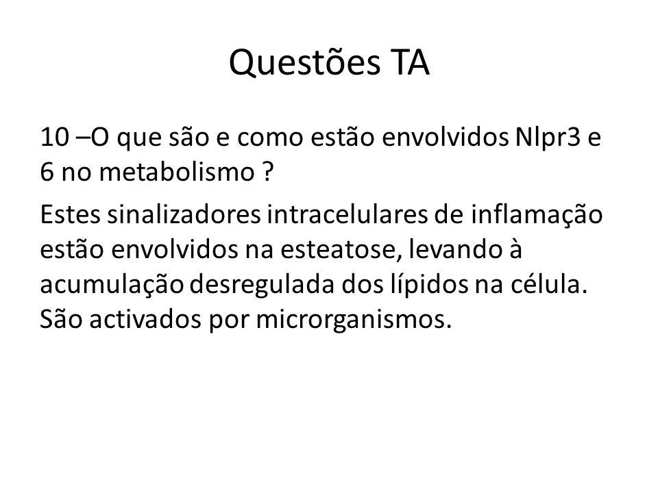 Questões TA 10 –O que são e como estão envolvidos Nlpr3 e 6 no metabolismo