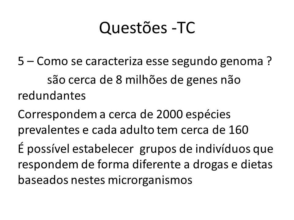 Questões -TC 5 – Como se caracteriza esse segundo genoma