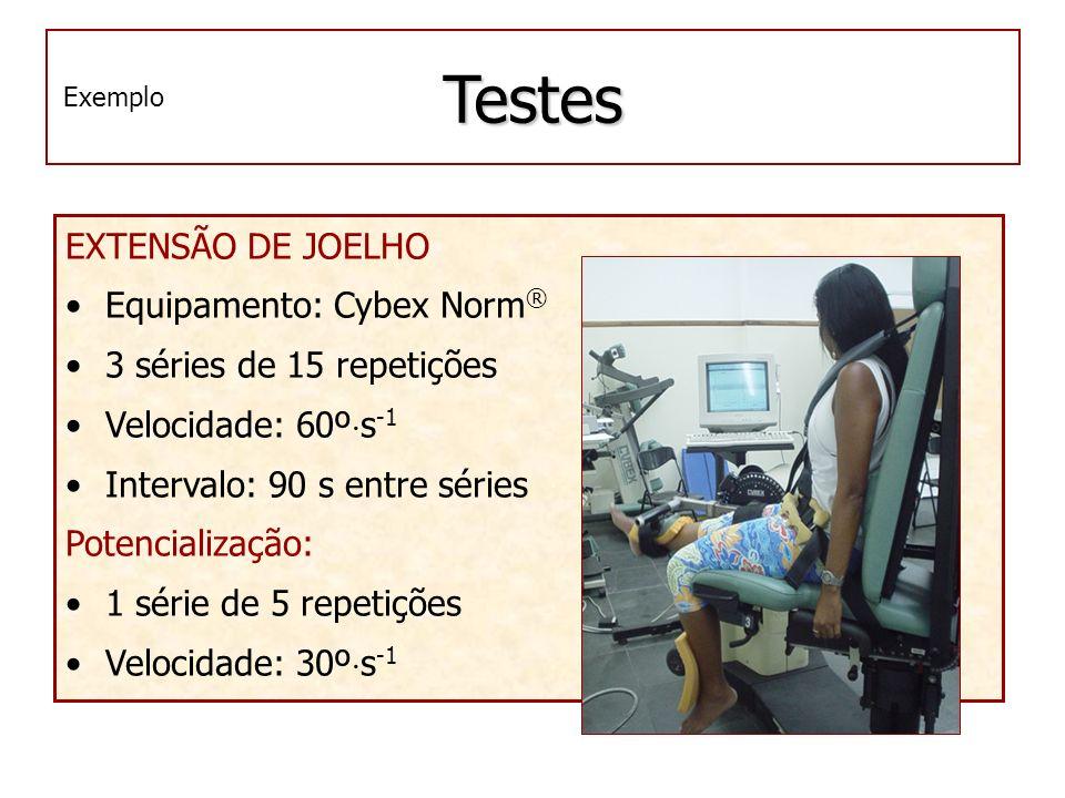Testes EXTENSÃO DE JOELHO Equipamento: Cybex Norm®