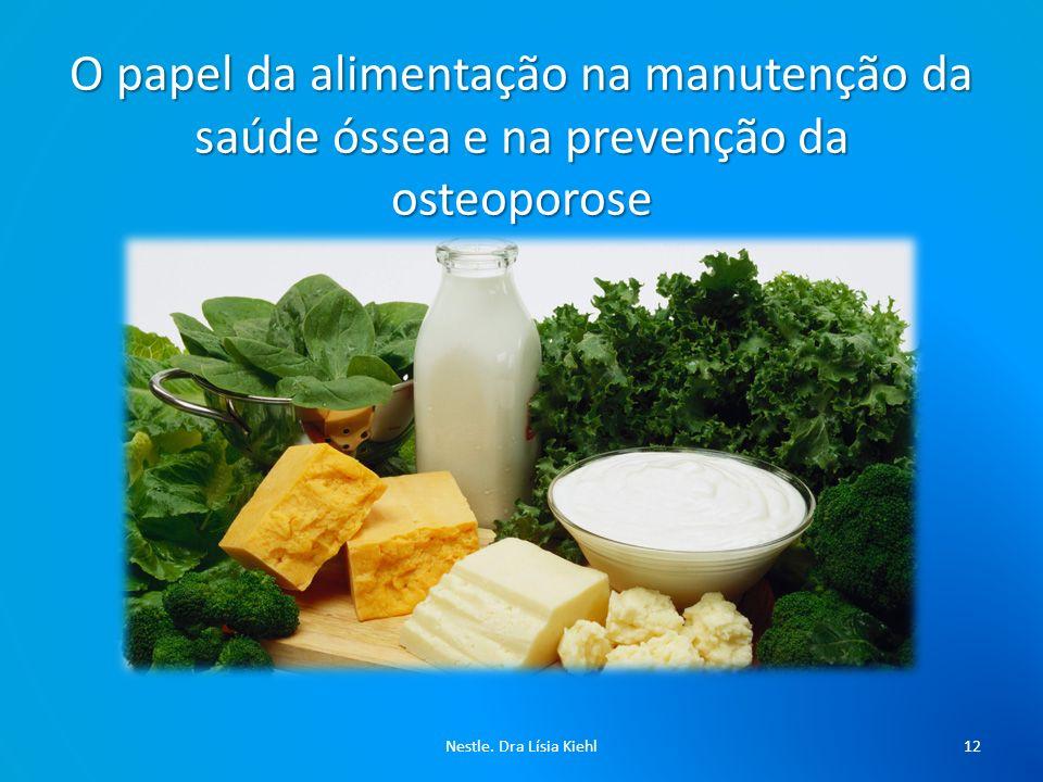O papel da alimentação na manutenção da saúde óssea e na prevenção da osteoporose