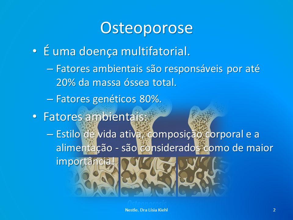 Osteoporose É uma doença multifatorial. Fatores ambientais: