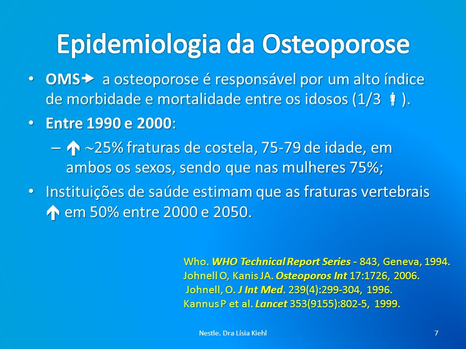 Epidemiologia da Osteoporose