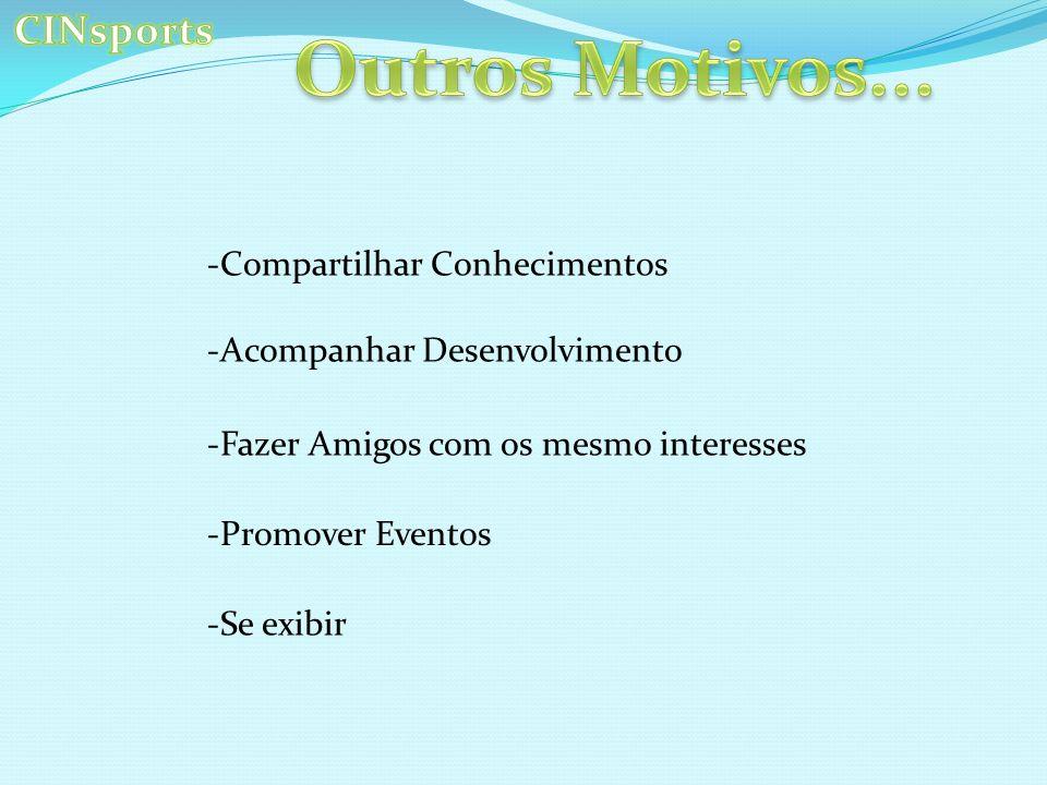 Outros Motivos... CINsports Compartilhar Conhecimentos