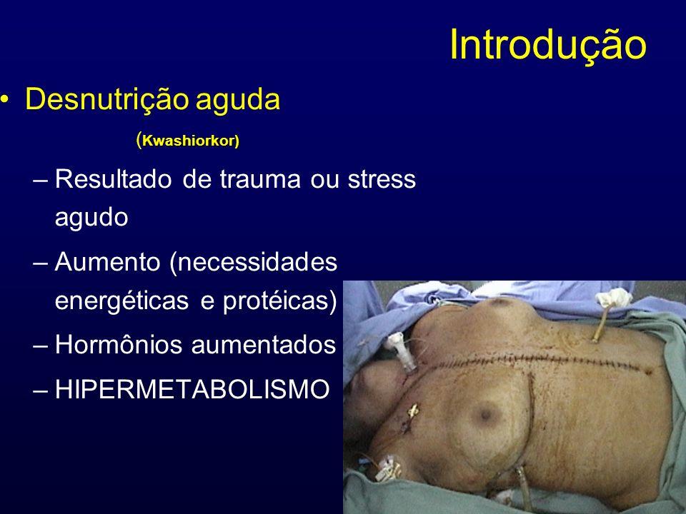 Introdução Desnutrição aguda Resultado de trauma ou stress agudo