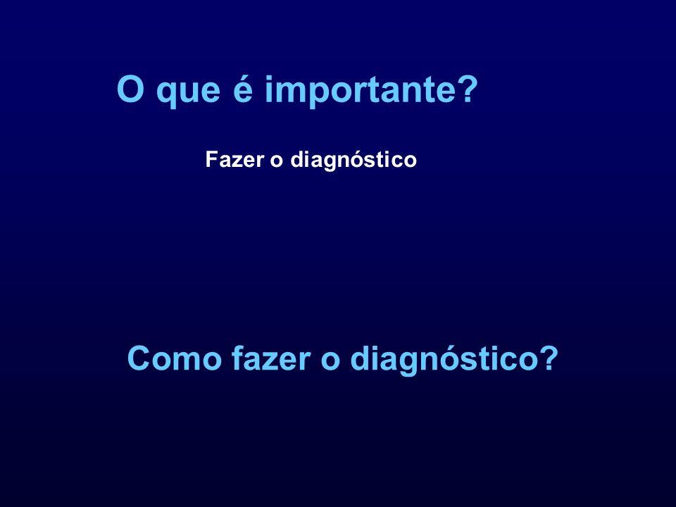 O que é importante Fazer o diagnóstico Como fazer o diagnóstico