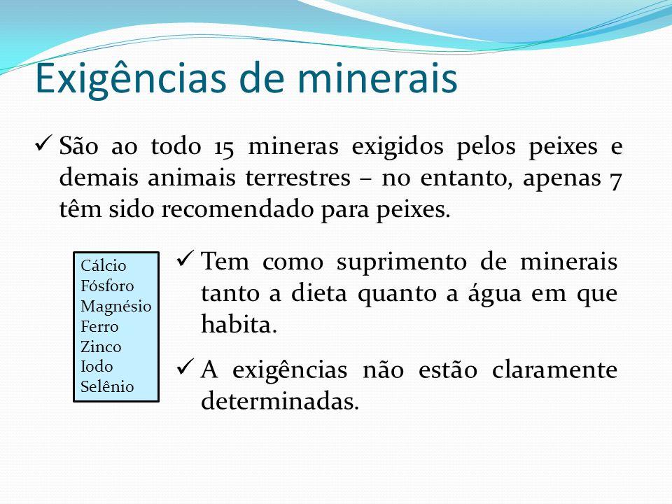 Exigências de minerais