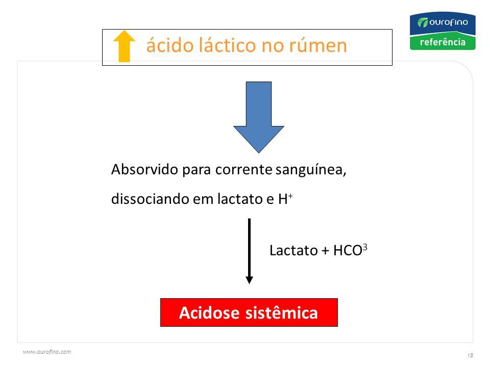 ácido láctico no rúmen Acidose sistêmica