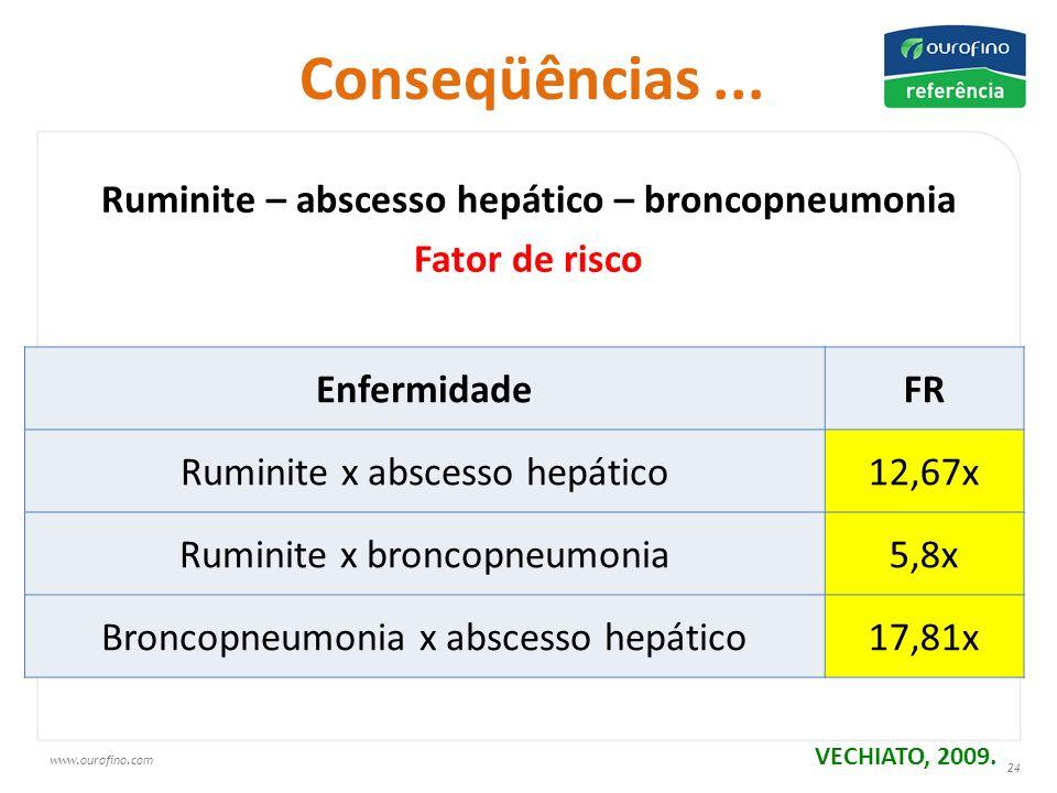 Ruminite – abscesso hepático – broncopneumonia