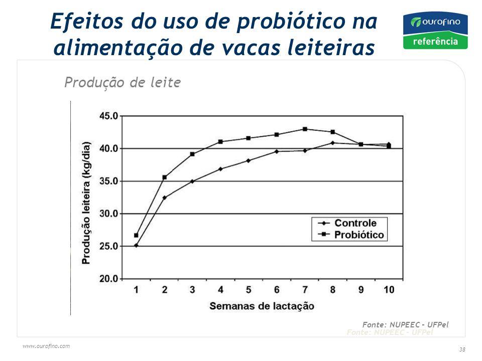Efeitos do uso de probiótico na alimentação de vacas leiteiras