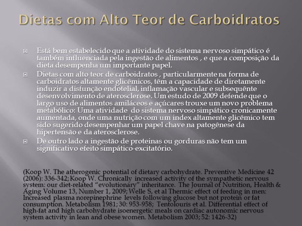 Dietas com Alto Teor de Carboidratos