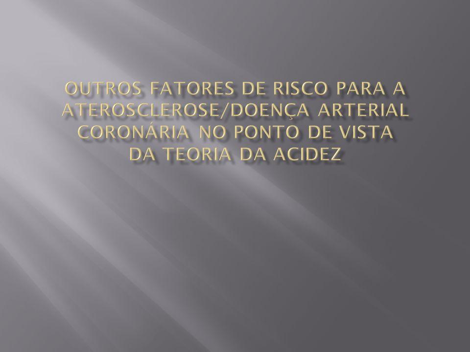 Outros fatores de risco para a aterosclerose/Doença arterial coronária no ponto de vista da teoria da acidez